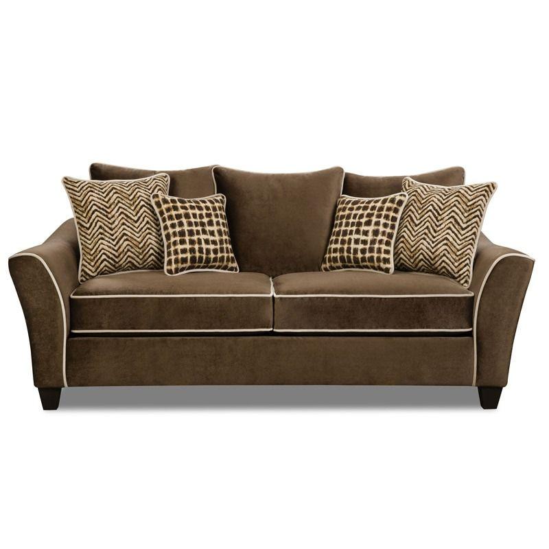 Outstanding Bittersweet Chocolate Microfiber Sofa Weekends Only Cjindustries Chair Design For Home Cjindustriesco