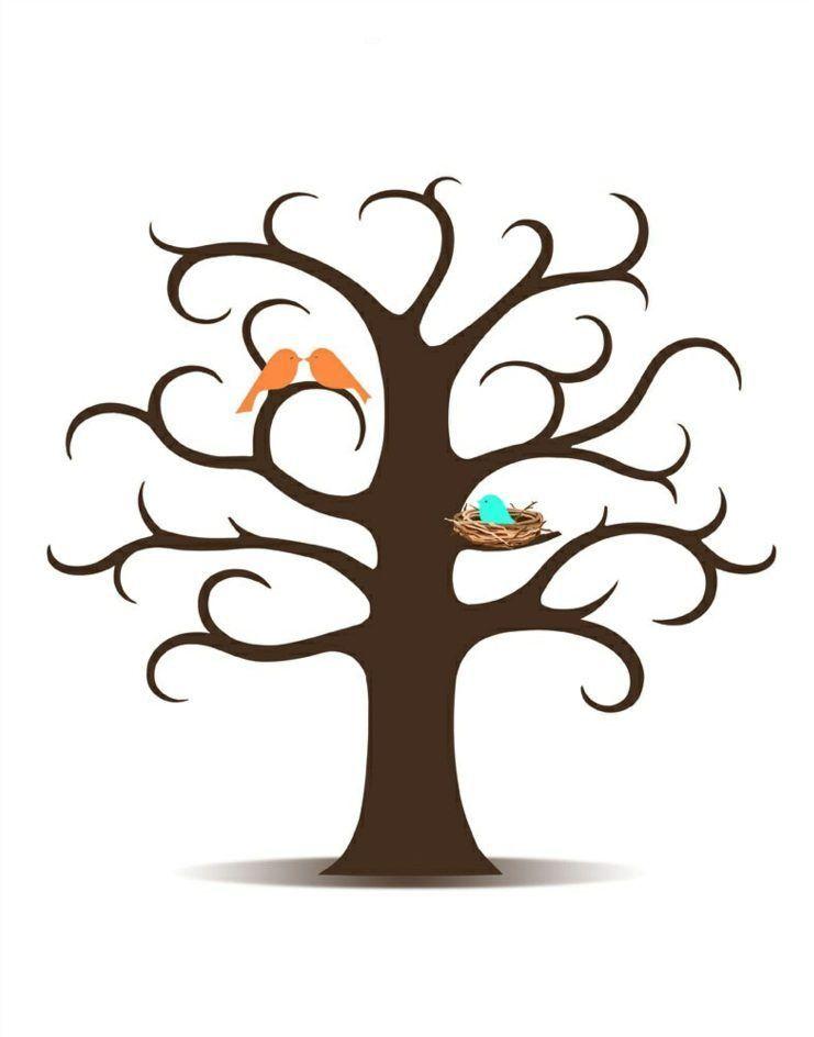 Fingerabdruck Baum Vorlage Naturlich Optik