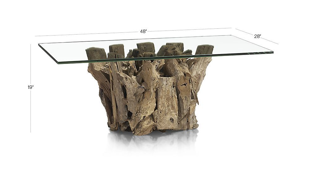 Shop Driftwood Coffee Table Collected Along The Shores Of Indonesia Unfinished Driftwood Forms The Base Of This Eclect Moveis De Madeira De Madeira Moveis