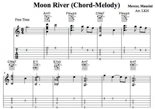 Guitar : moon river guitar tabs Moon River Guitar Tabs plus Moon ...