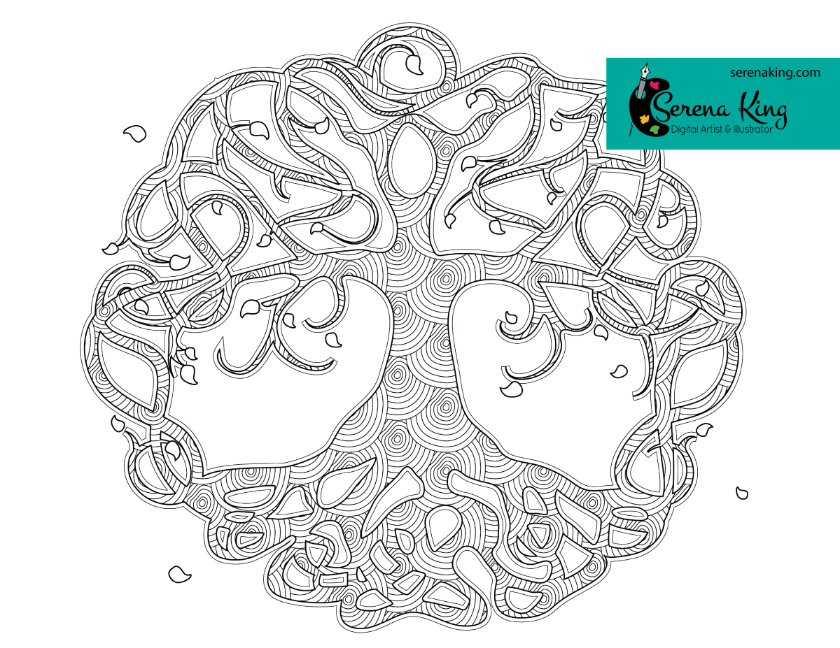 Celtic Tree Coloring Page Tree coloring page, Coloring