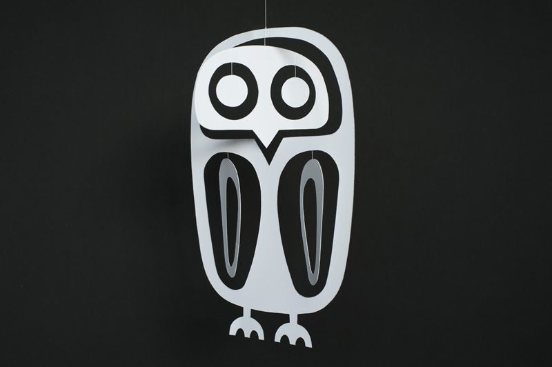 Made by Joel Paper Owl Mobile 2