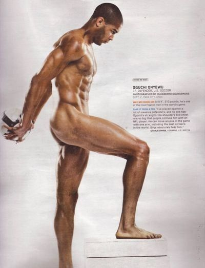 Pride Oguchi Onyewu Us Soccer Player From The Espn Body Issue Body Issues Athlete Soccer Players