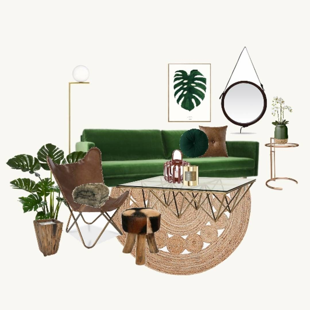 Thediydecorator living room lounge room green leather mood board