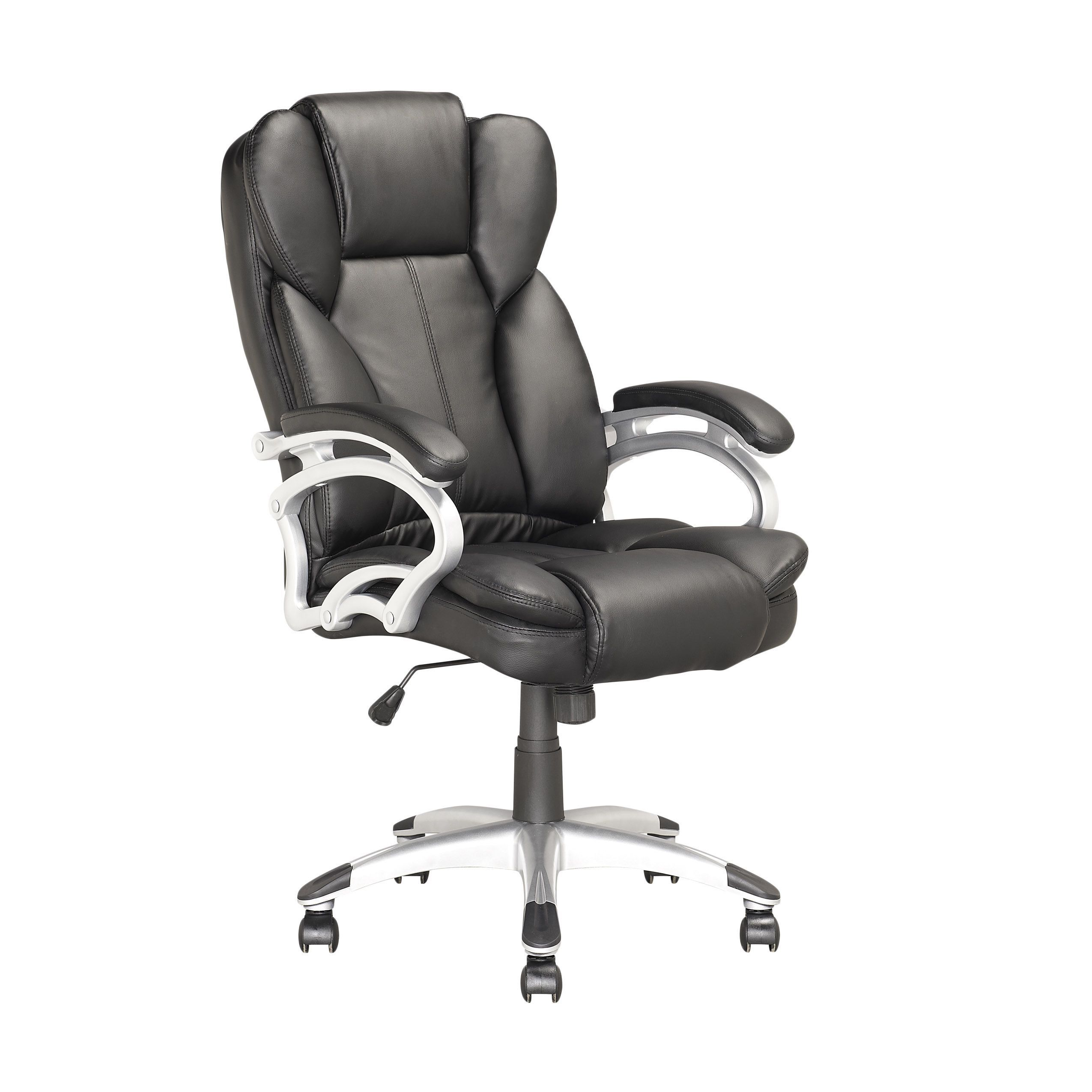Corliving lofo executive office chair in black leatherette by