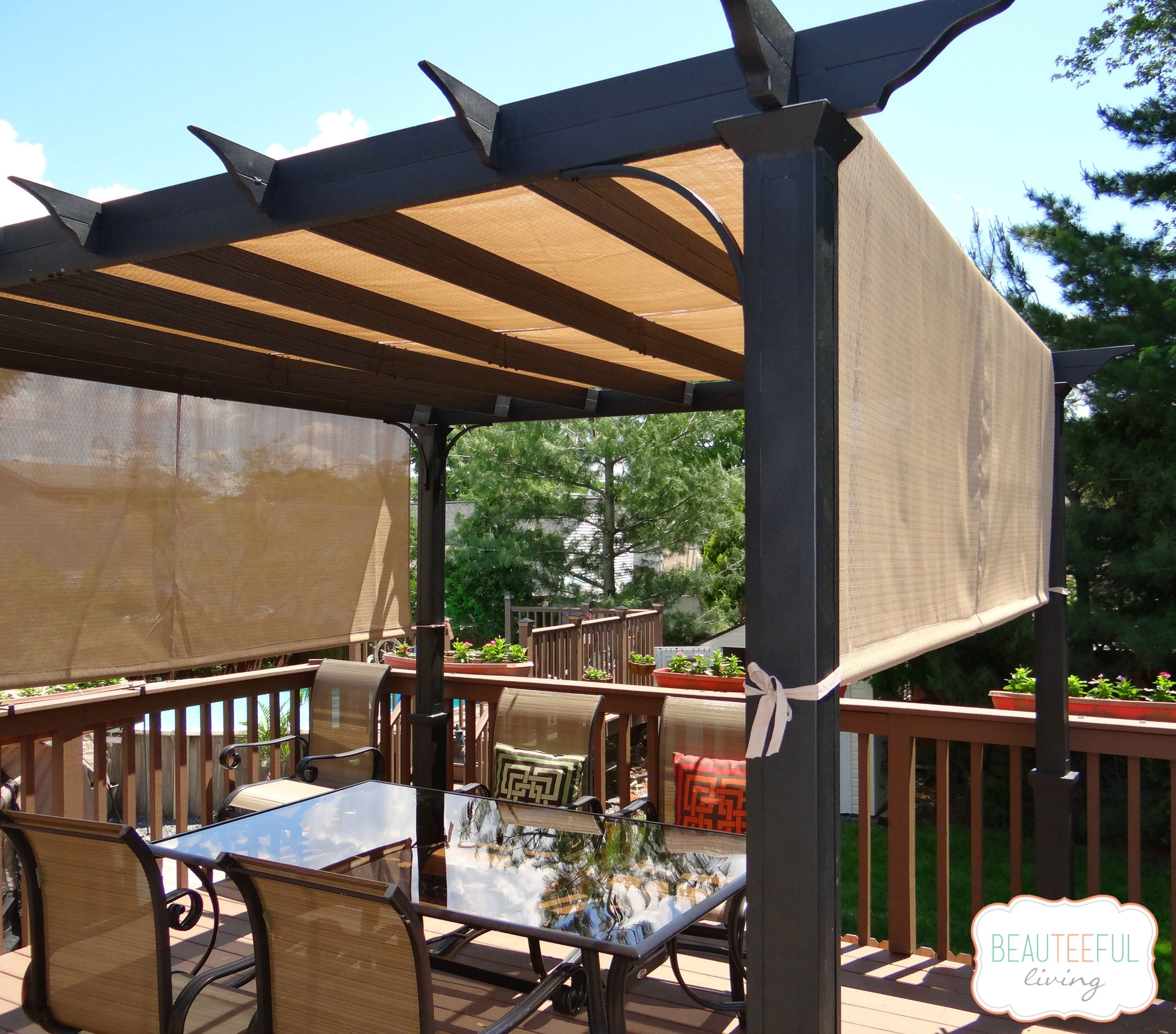 our new pergola shade at last