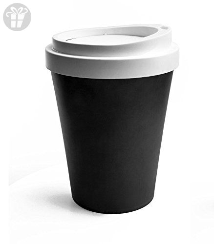 Trash Travel Lid Bin Cup Can Coffee Large Flipable Qualy Rubbish Y9WEDeIH2