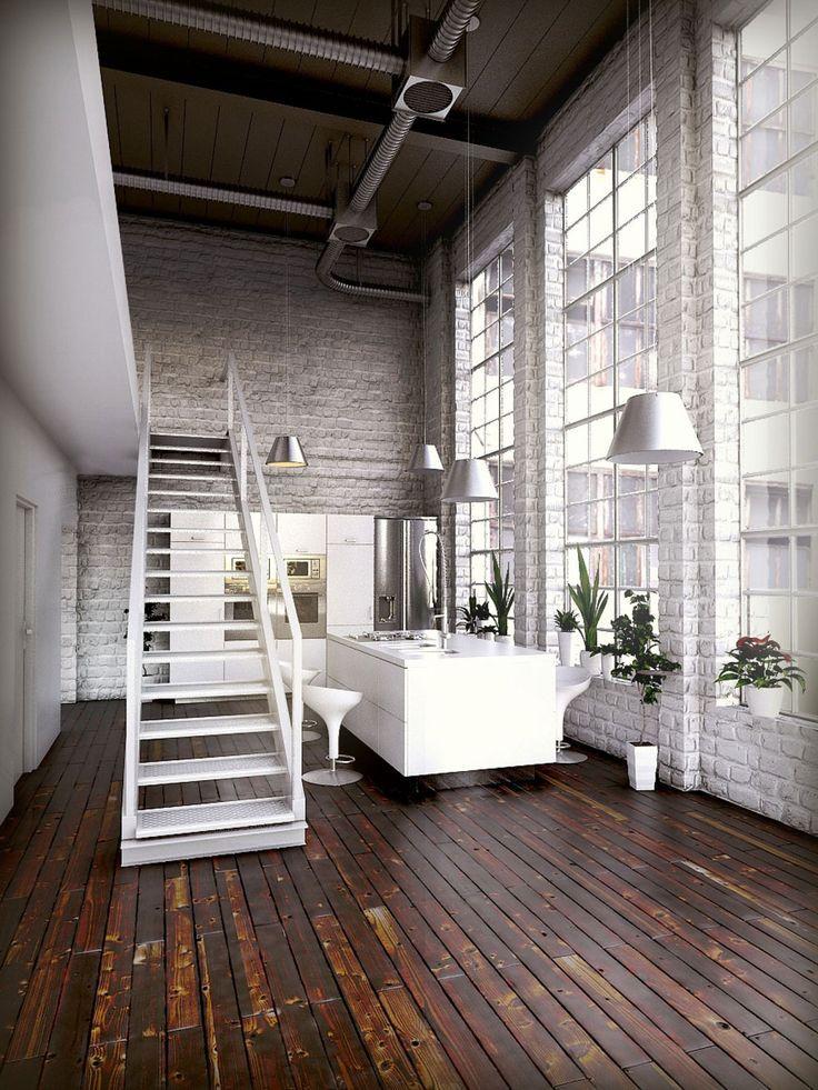 Loft deco escaliers loft life pinterest loft industriel deco escalier et industriel - Deco loft industriel ...