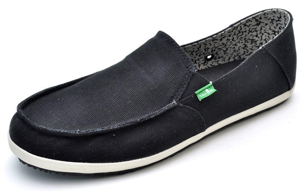 90b7779caecb Sanuk CASA Black Canvas Sidewalk Surfers Loafers Men s 12 - NEW - SMF10510   Sanuk  FashionSneakers