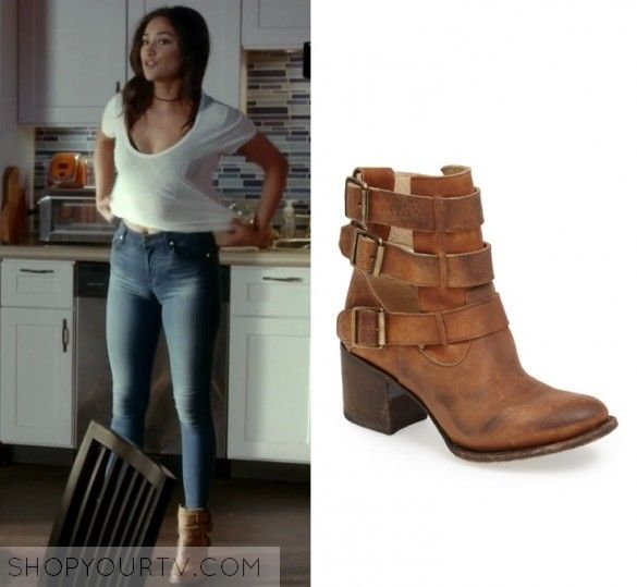 Pretty Little Liars: Season 7 Episode 14 Emily's Tan Buckle Boots | Shop  Your TV