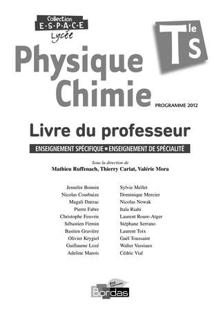 Livre Du Professeur Bordas Ts Physique Simo Science Digital Publishing