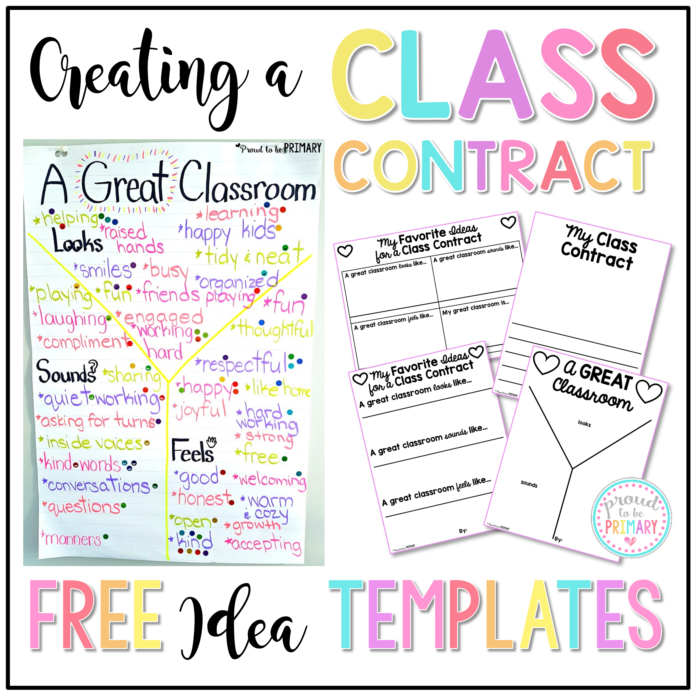 Creating A Class Contract  Classroom Contract Students And Create