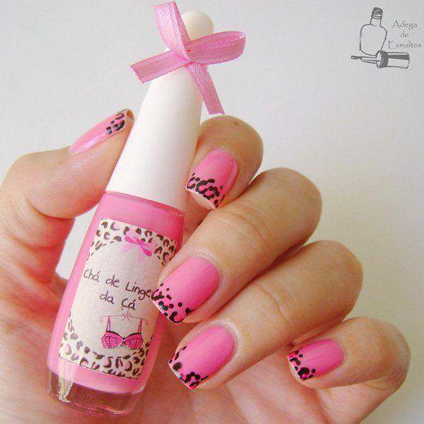 50 pink nail art designs black polish nail art designs and art 50 pink nail art designs prinsesfo Images