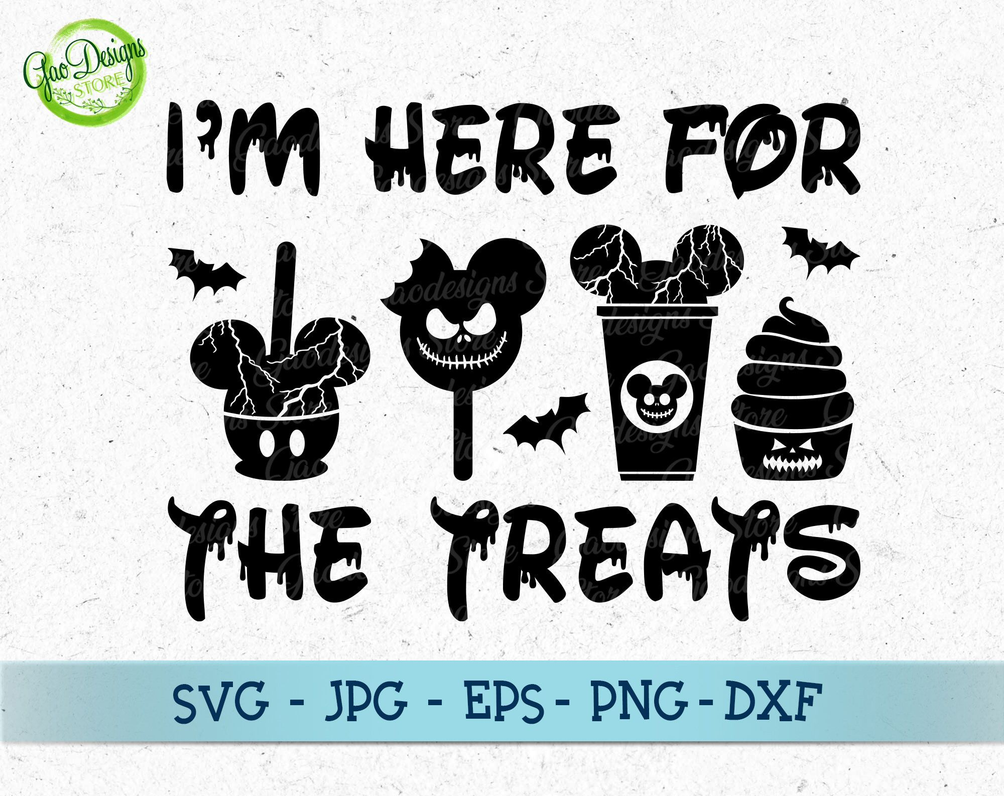 I'm Here for the Treats svg, Disney Halloween Svg