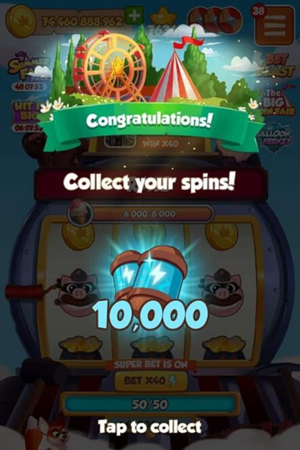 Coin Master 47 5 Millionen Coins Free And 200 Free Spins 1 In 2021 Coin Master Hack Coins Spinning