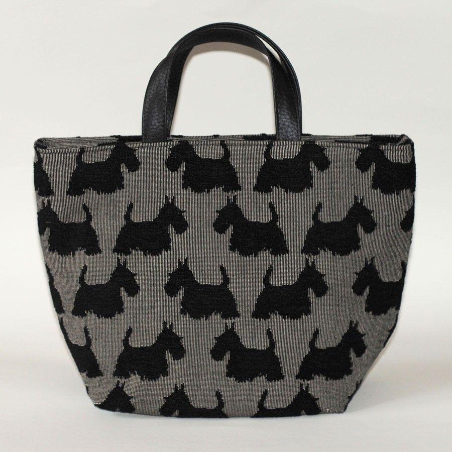 Grey Scottie Dog Tote Handbag By Belly Moden 42 99