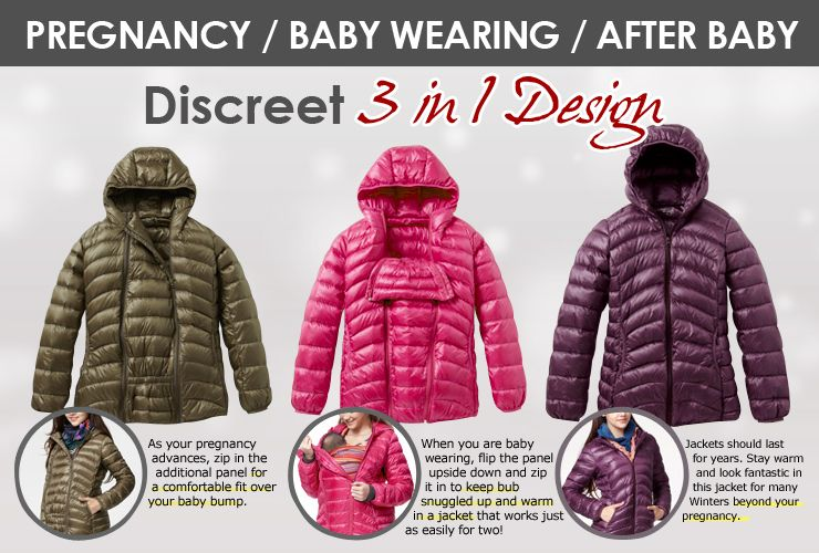 d38e98693 Mamaway - 3 in 1 Jacket - 3 in 1 Down filled Maternity and baby ...