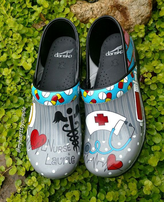 Pin on Hand Painted Clogs