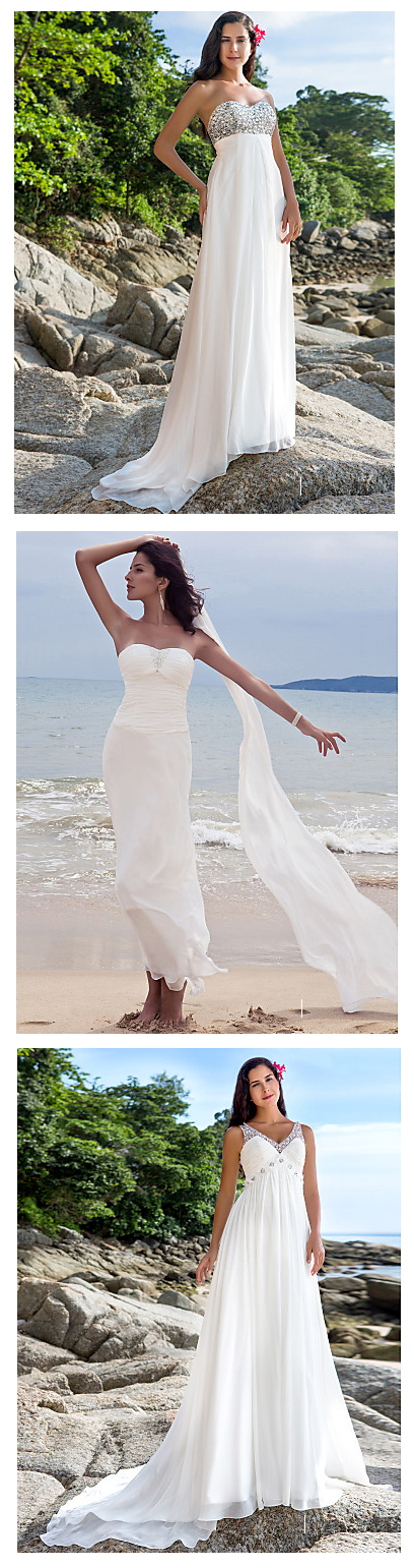A wedding on the beach is a dream wedding, don't you think? Find your ideal beach wedding dress by clicking on the picture. Make your dream come true! Use Coupon [PTL10332] for additional 10% off.