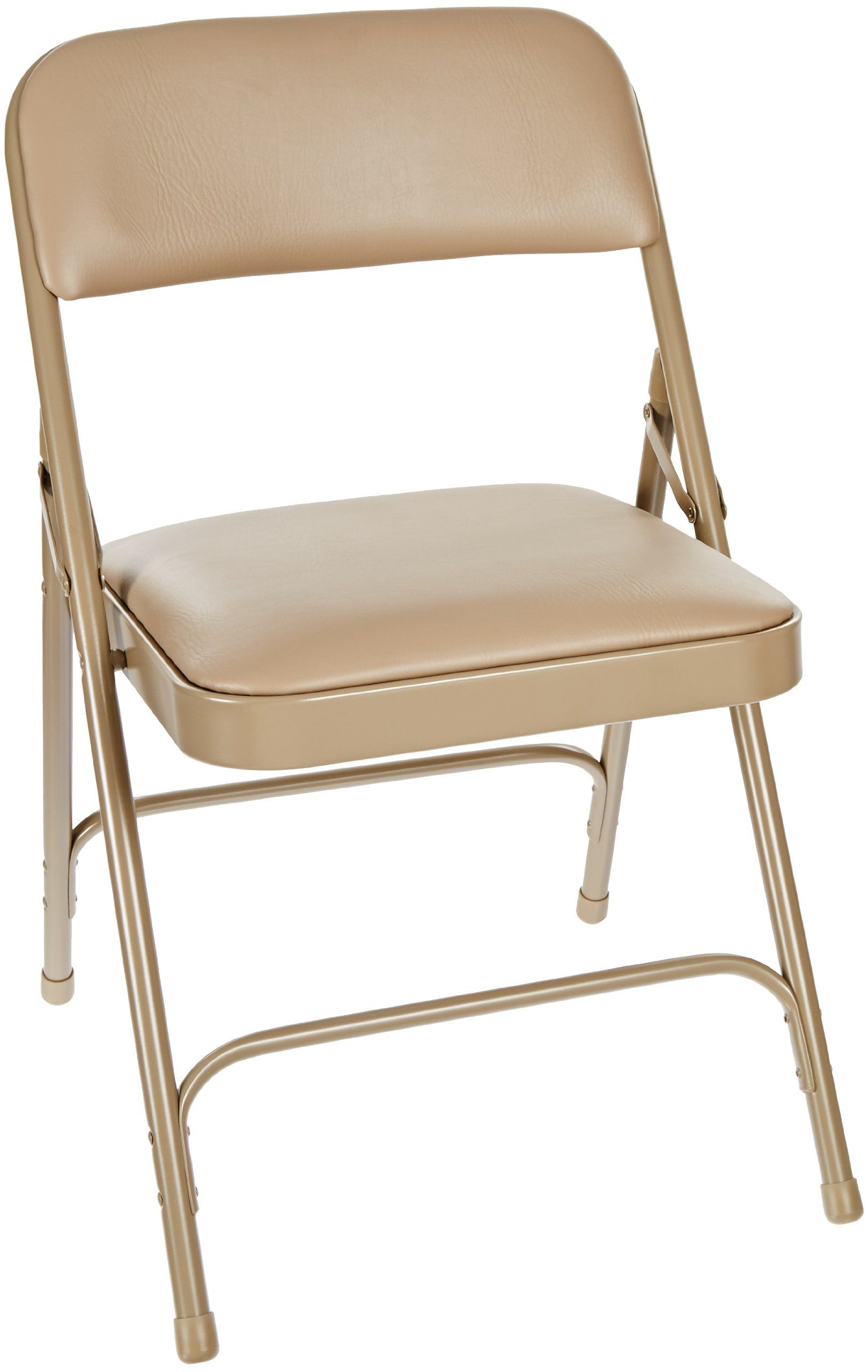 steel vinyl chair behind the national public seating 1200 series frame upholstered premium seat and back folding with double brace 480 lbs capacity french beige