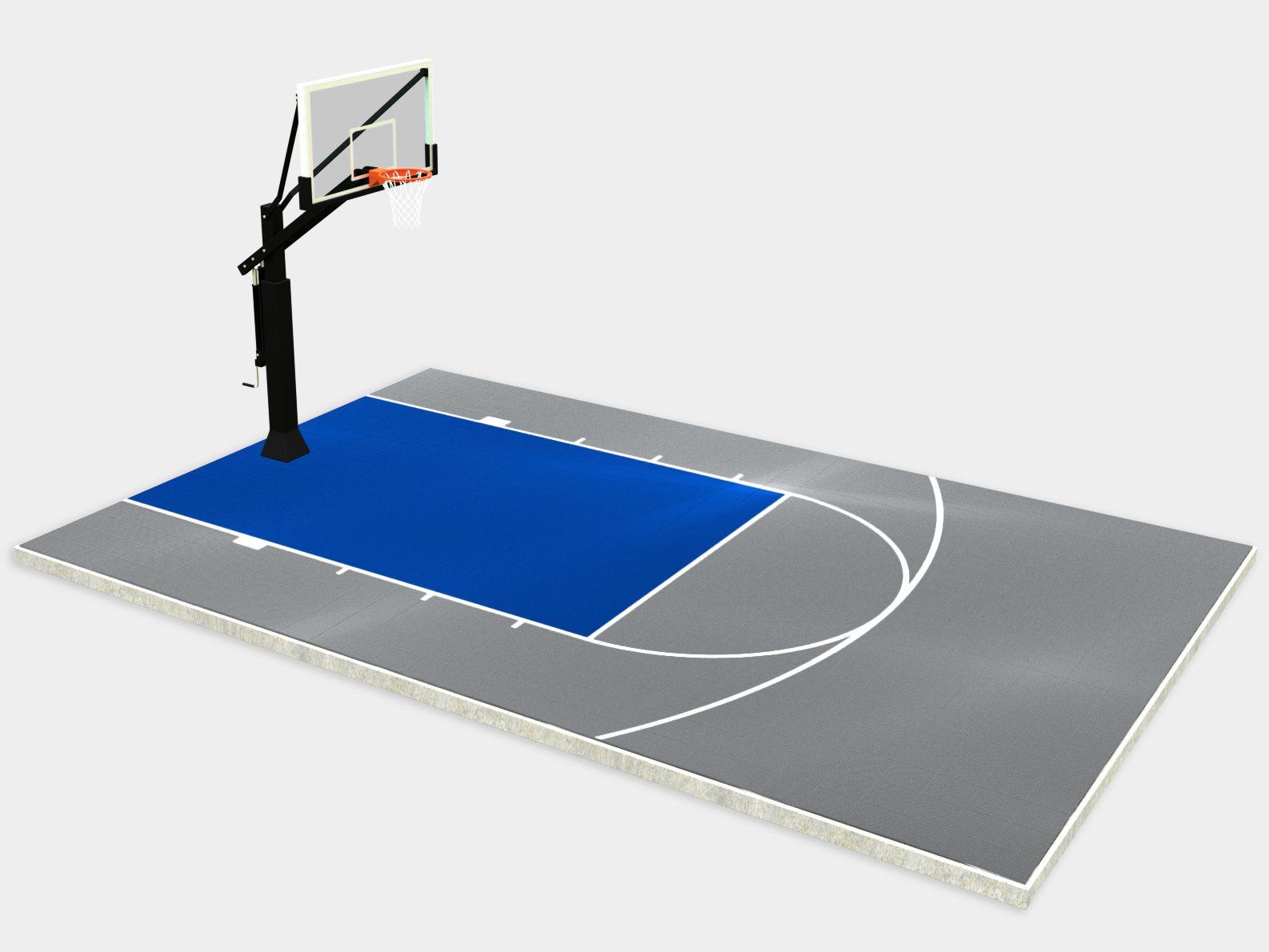 20 X 25 Basketball Court Dunkstar Diy Backyard Courts In 2020 Backyard Court Basketball Court Backyard Backyard Basketball