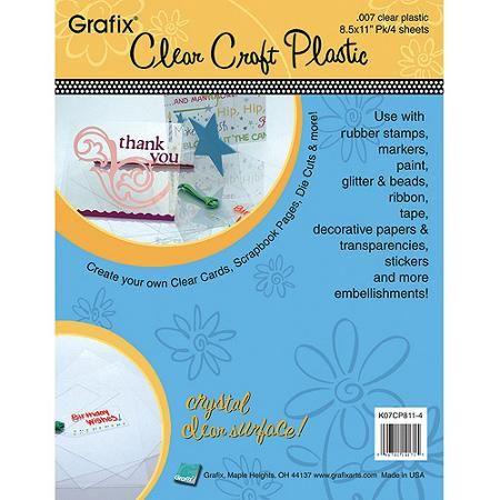 Craft Plastic Sheets 8 5 X11 25 Pkg Clear 007 Walmart Com Plastic Sheets Clear Plastic Sheets Clear Stickers