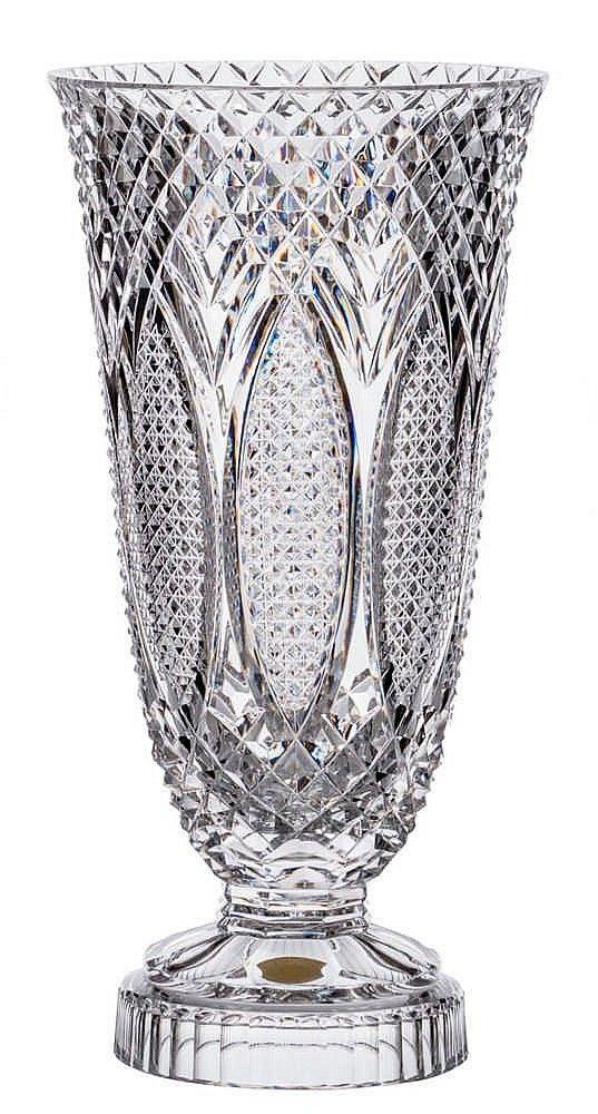 Val St Lambert Vase Queensland Cg811 Charles Graffart 1956 H 56 5 Cm Crystal Glassware Art Deco Glass Glass Vases Centerpieces
