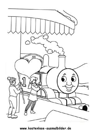 ausmalbild thomas die lokomotive zum kostenlosen
