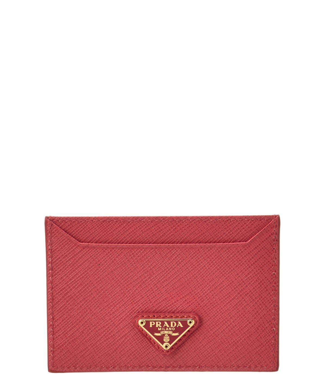 Prada Saffiano Leather Cardholder\', Pink | Prada saffiano, Leather ...