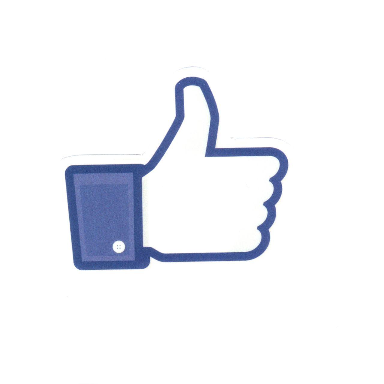 1141 Facebook Like Button Width 6 Cm Decal Sticker