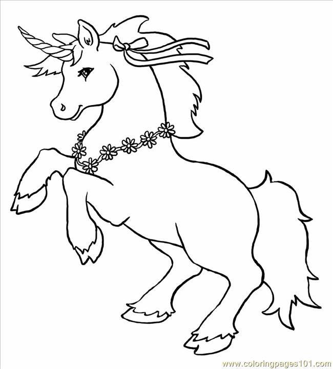 free printable coloring image Unicorn Big | Dibujos and Printables ...