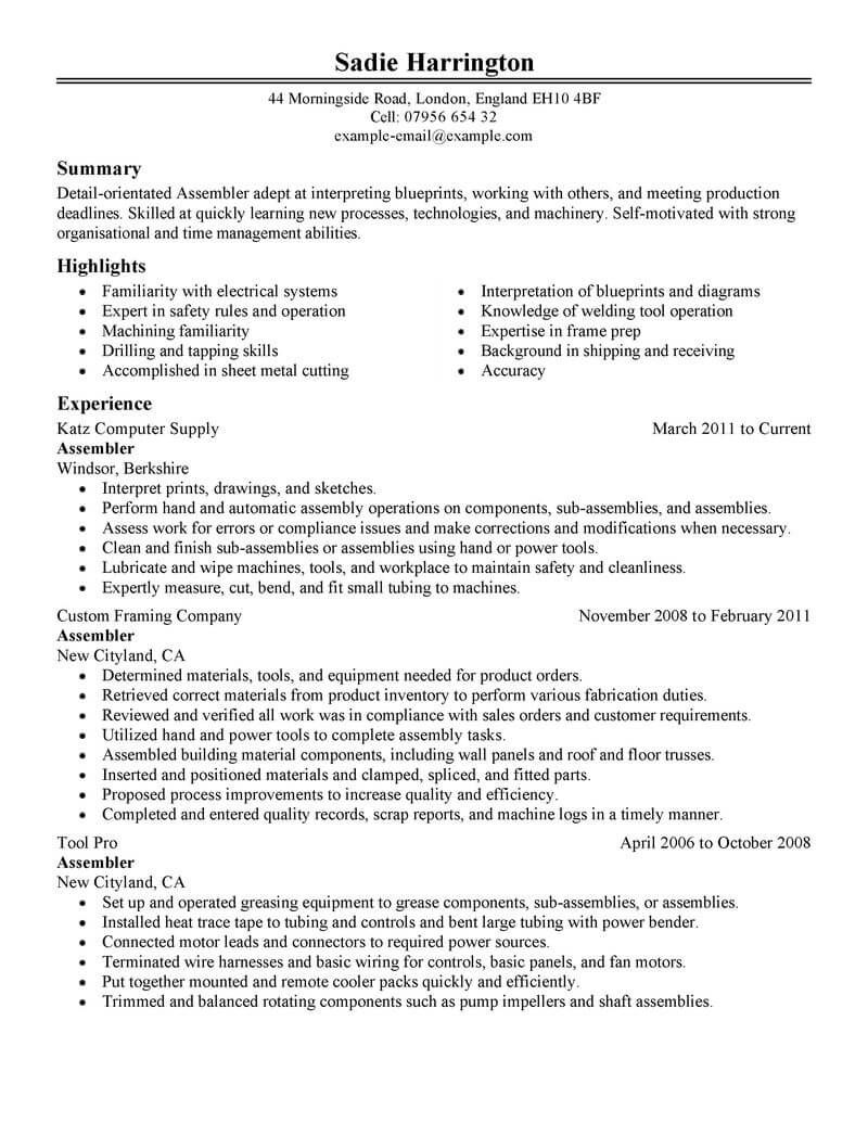 Resume Examples Manufacturing Resume Templates Job Resume Samples Resume Examples Resume Skills
