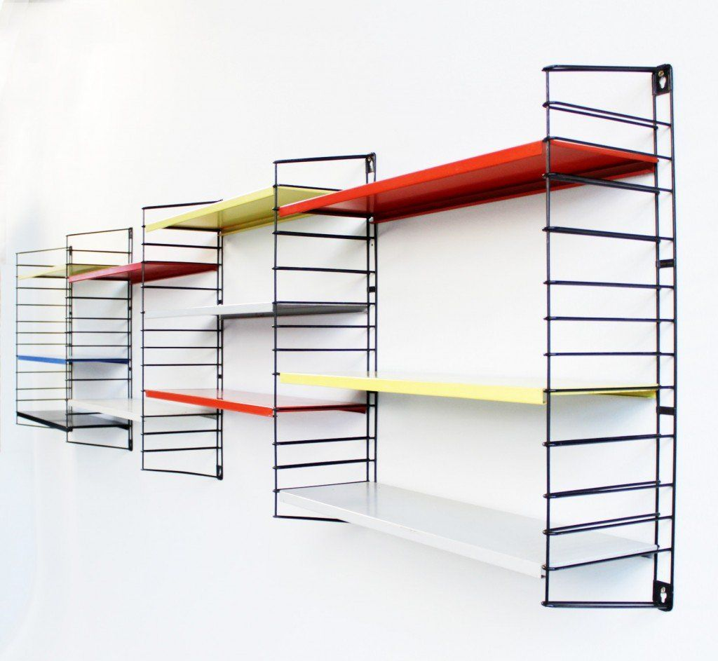 Furniture wall mounted kitchen metal shelving units with furniture wall mounted kitchen metal shelving units with colorfull painting and white wall interior color amipublicfo Image collections