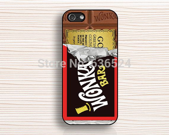 Hot Style Opened Half Wonka Chocolate Black Case Cove for iphone 4 ...