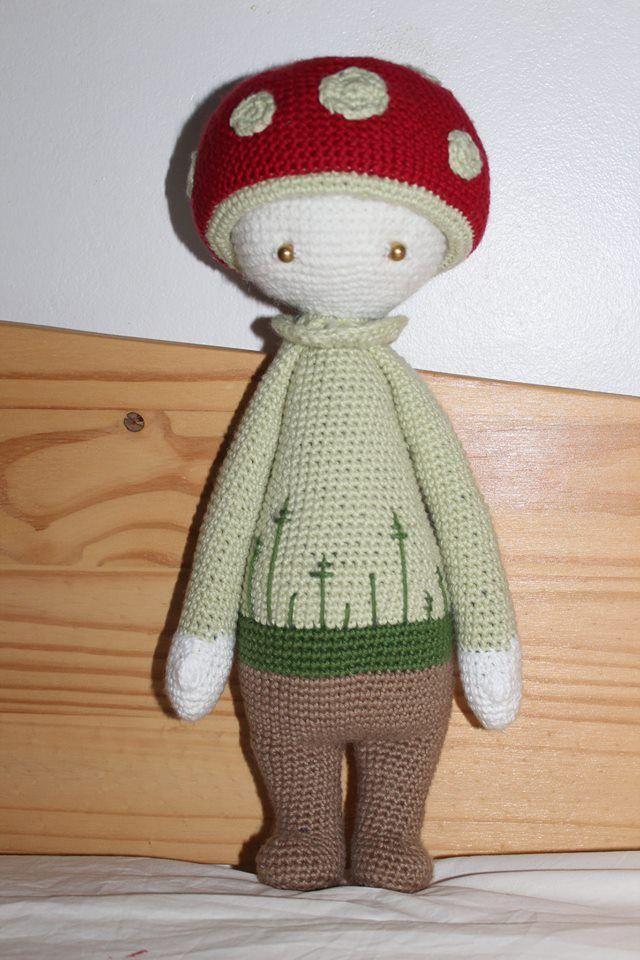 PAUL the toadstool made by Hélène C. / crochet pattern by lalylala