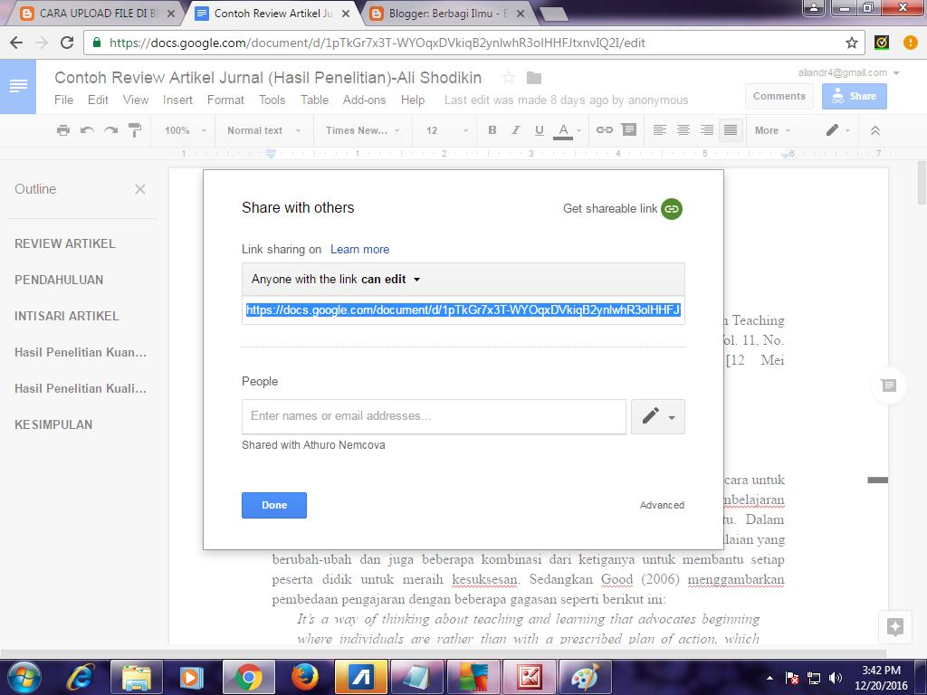 Cara Upload File Ke Blogger