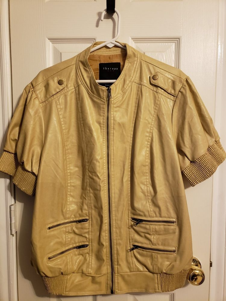da009cccd THERAPY By Lane Crawford Womens Faux Leather Jacket Size 2X #fashion ...