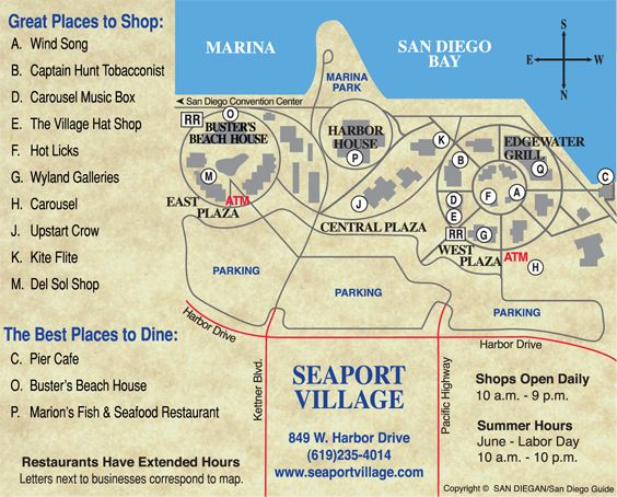 Seaport Village Map seaport village san diego | San Diego | Pinterest | San Diego  Seaport Village Map