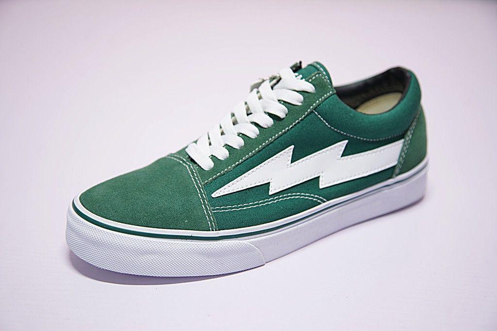 green vans low top
