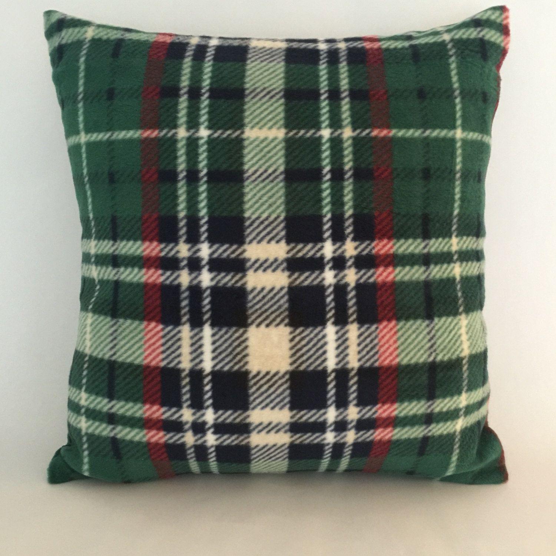"""Green Tartan Plaid Decorative Accent Pillow Cover, 16"""" Toss Pillow ..."""