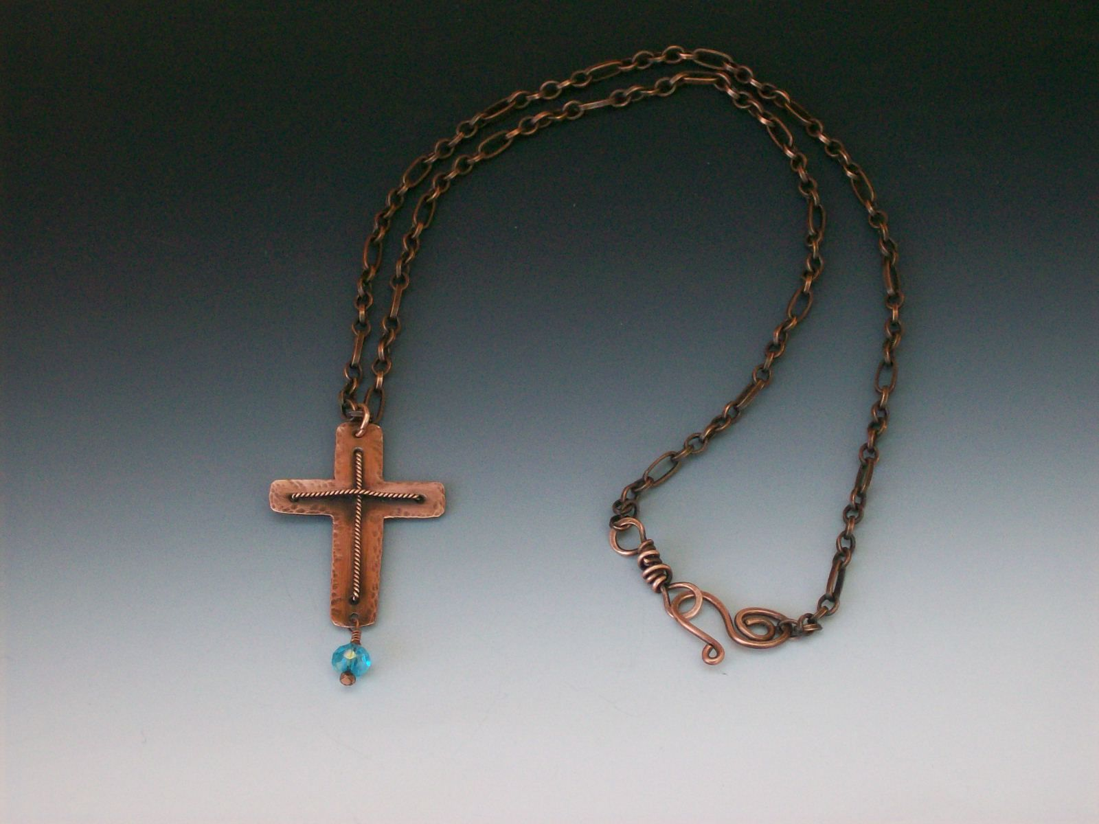 Handmade Copper Cross Necklace made from Copper sheet metal and ...