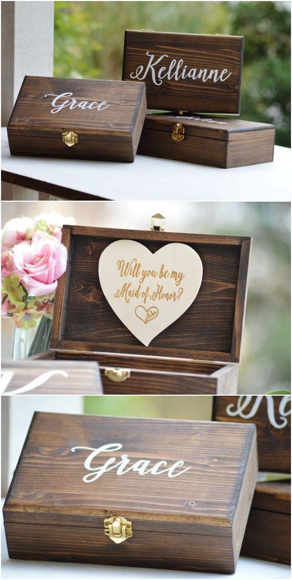 For Our Bridesmaid Wedding Keepsake Gift Trinket Box