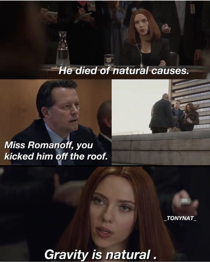 Black widow had natural death