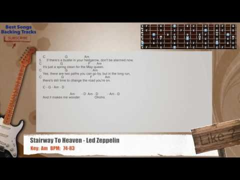 Stairway To Heaven Led Zeppelin Guitar Backing Track With Chords
