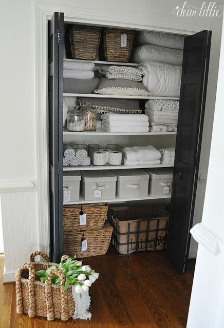 Elegant Hallway Linen Closet