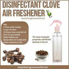 Clove air freshener and antiseptic