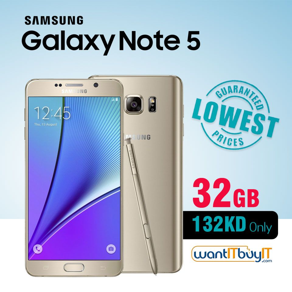 Samsung Galaxy Note 5 At Lowest Price With Free Shipping Across Kuwait