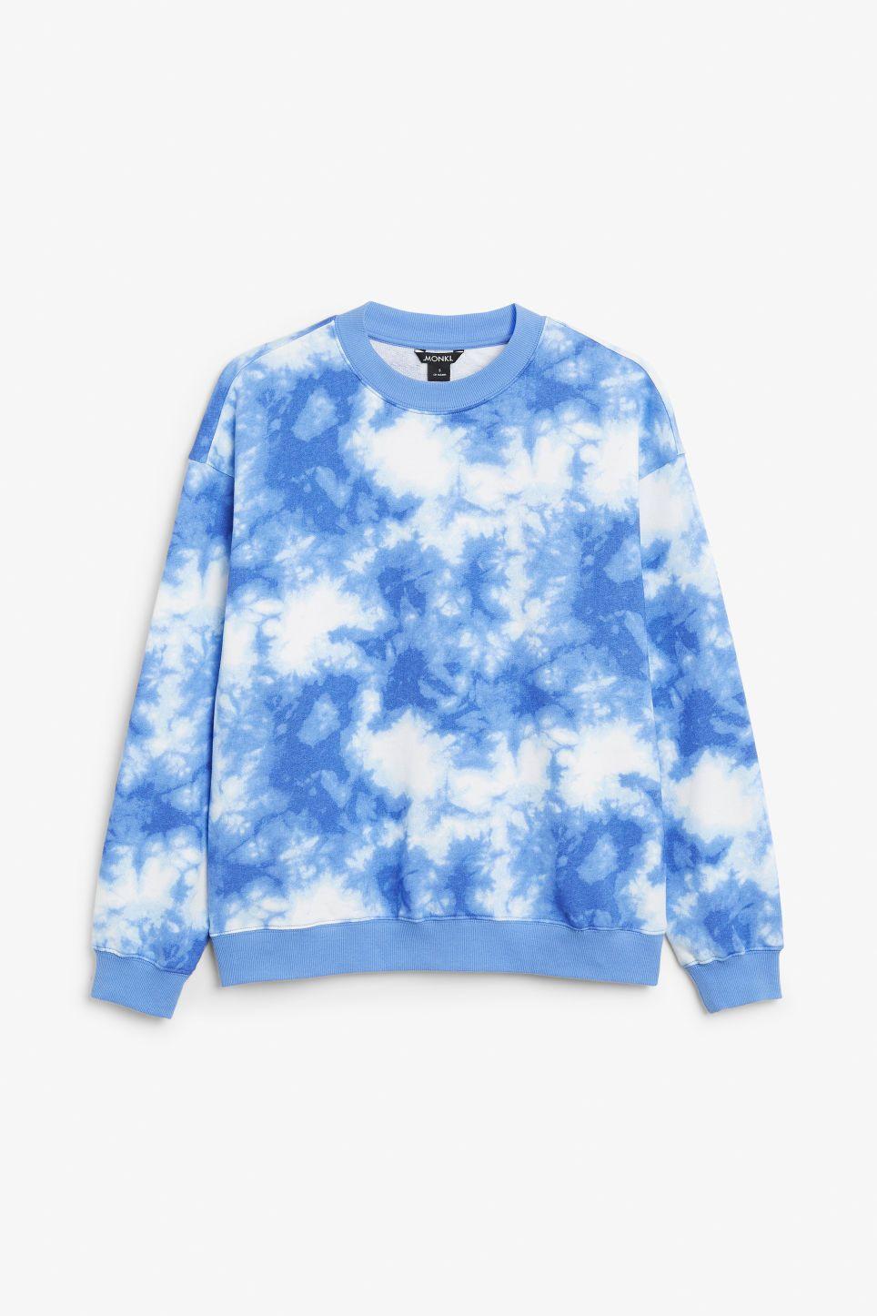 Monki Loose Fit Sweater Tie Dye Sweater Tie Dye Sweatshirt Outfit [ 1446 x 964 Pixel ]