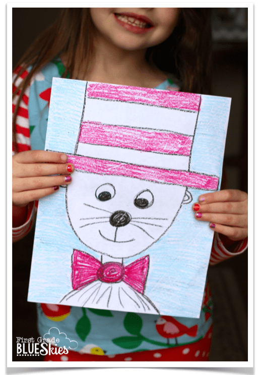 Cat In The Hat Directed Drawing For Reading Writing Celebration Week Dr Seuss We Dr Seuss Crafts Cat In The Hat Directed Drawing Directed Drawing Kindergarten