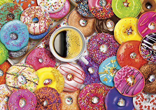 Buffalo Games  Vivid Collection  Aimee Stewart  Coffee and Donuts  300 Large Piece Jig